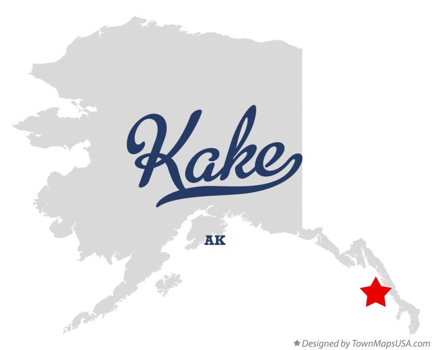 Map of Kake Alaska AK