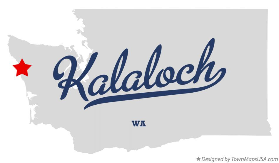 Map of Kalaloch Washington WA