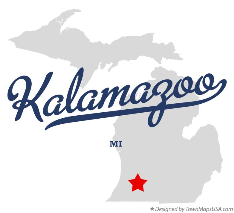 Map of Kalamazoo Michigan MI
