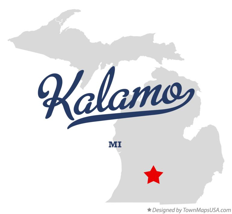 Map of Kalamo Michigan MI