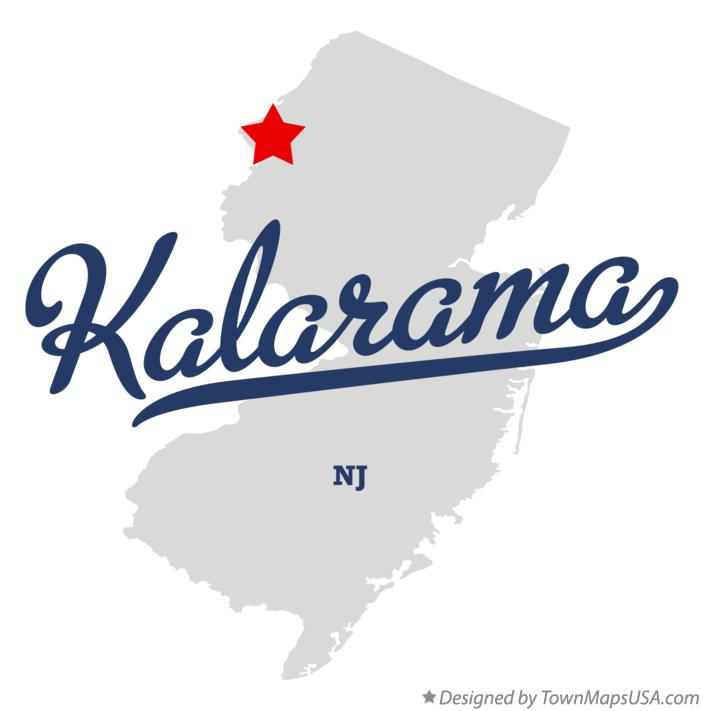 Map of Kalarama New Jersey NJ