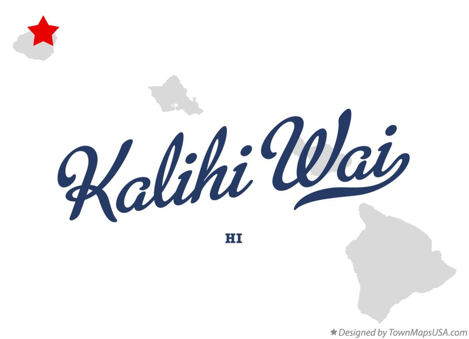 Map of Kalihi Wai Hawaii HI