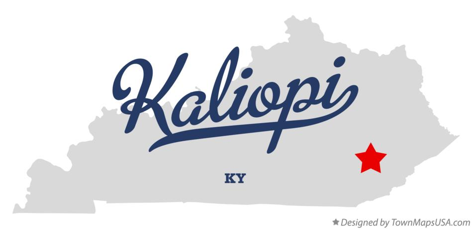 Map of Kaliopi Kentucky KY