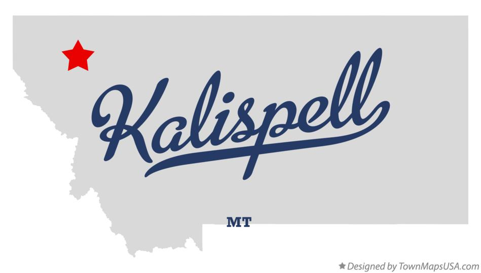 Map of Kalispell, MT, Montana