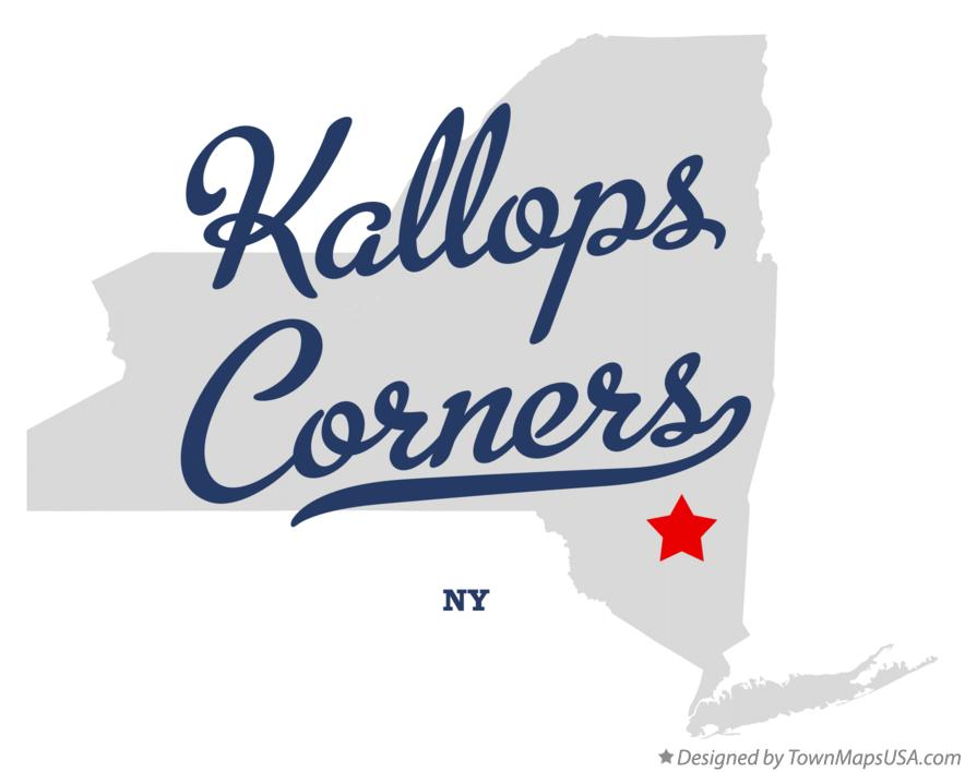 Map of Kallops Corners New York NY