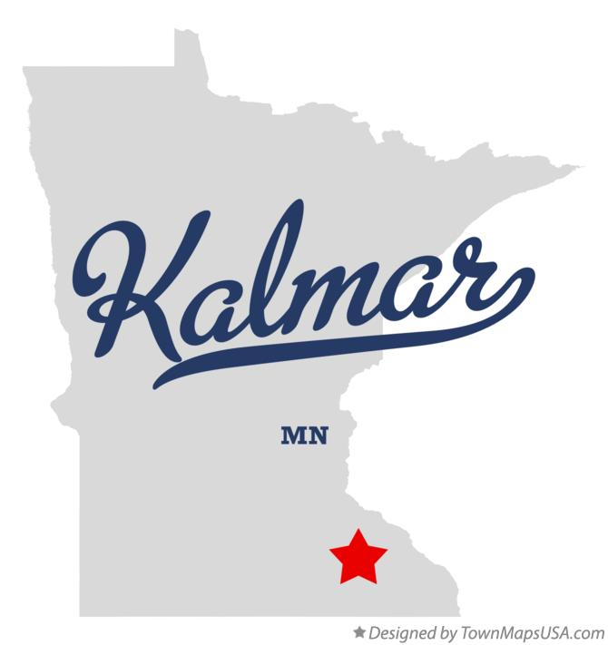 Map of Kalmar Minnesota MN