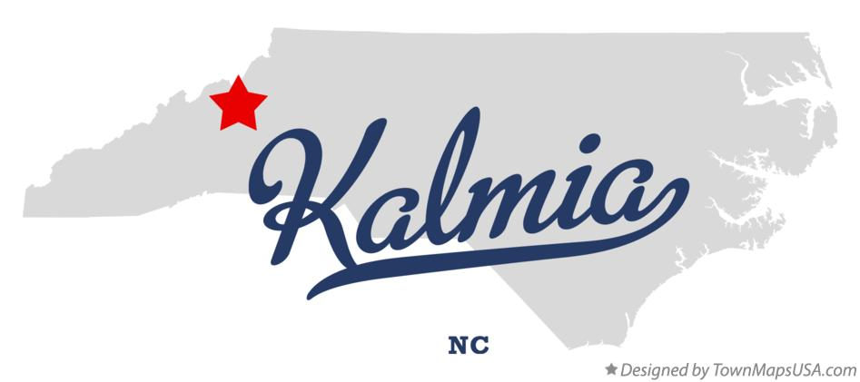 Map of Kalmia North Carolina NC