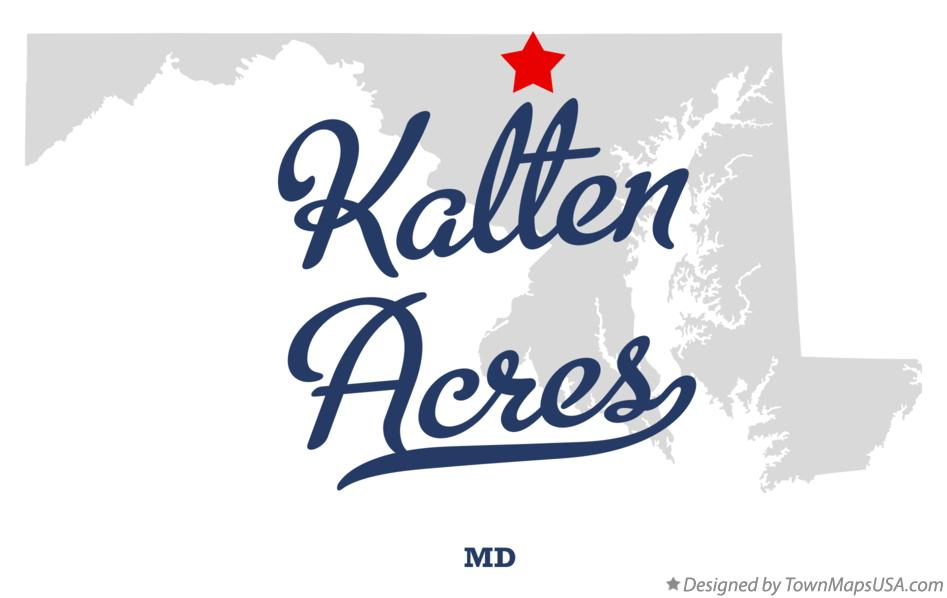Map of Kalten Acres Maryland MD