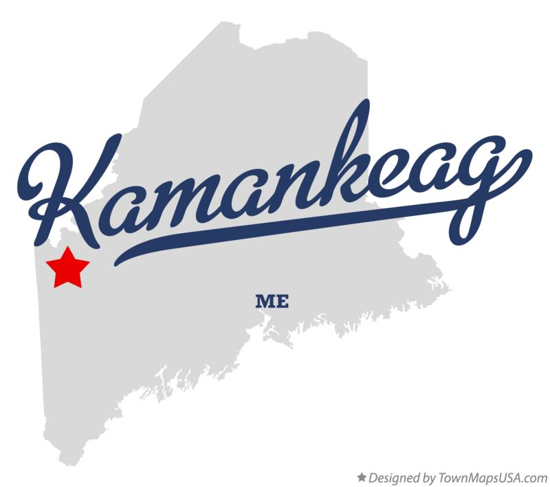 Map of Kamankeag Maine ME
