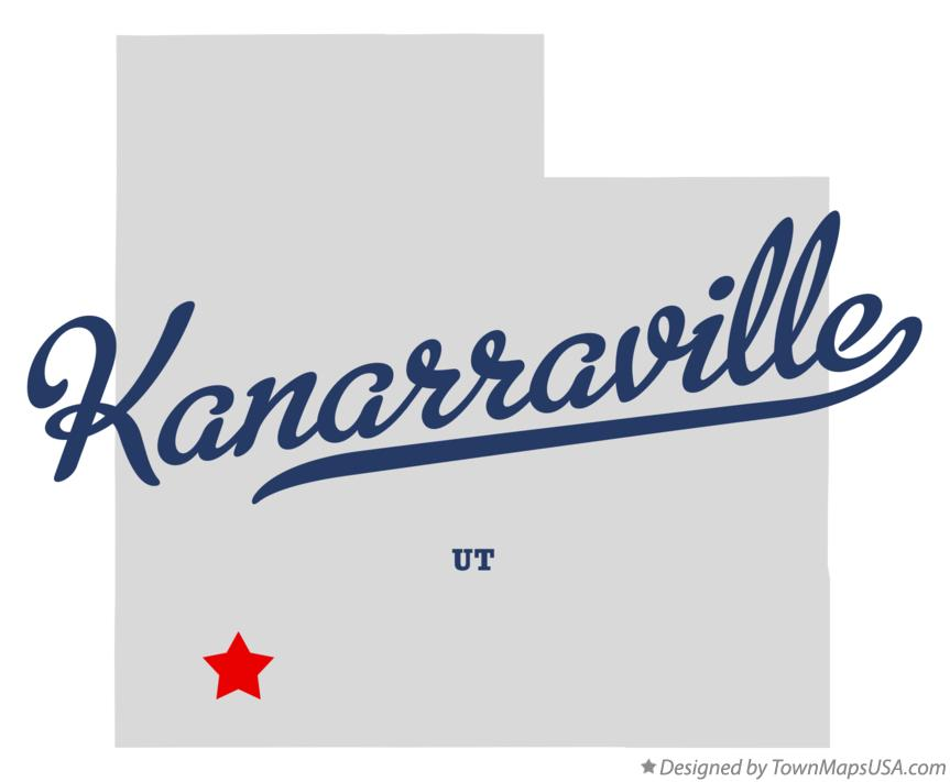 Map of Kanarraville Utah UT