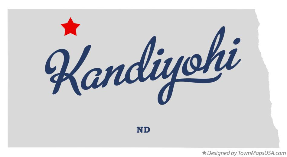 Map of Kandiyohi North Dakota ND