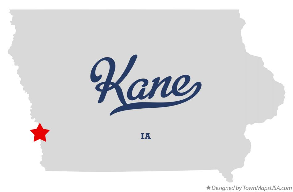 Map of Kane Iowa IA
