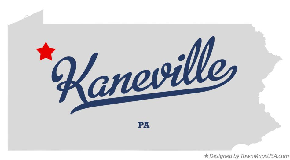 Map of Kaneville Pennsylvania PA