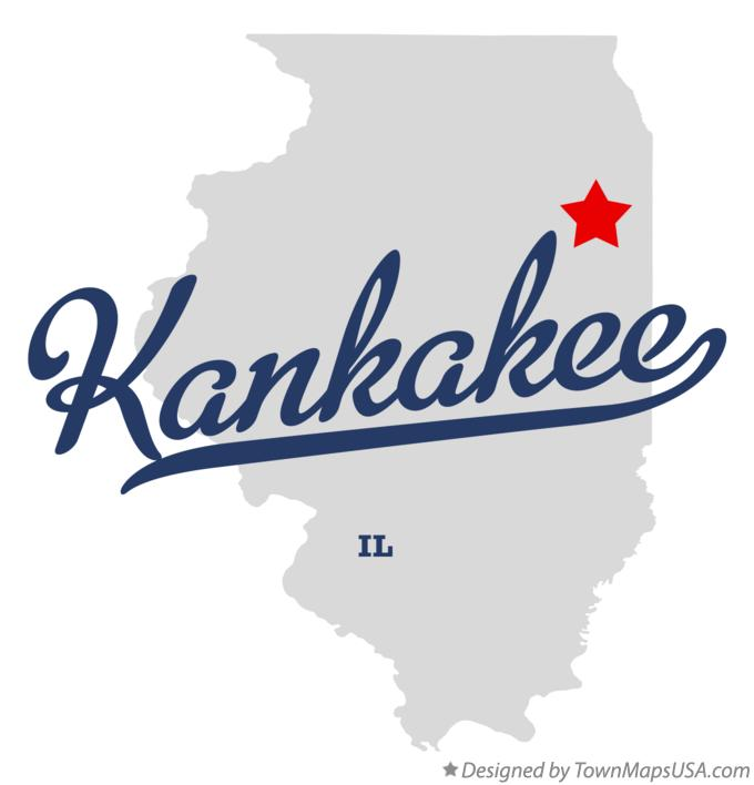 Map of Kankakee Illinois IL