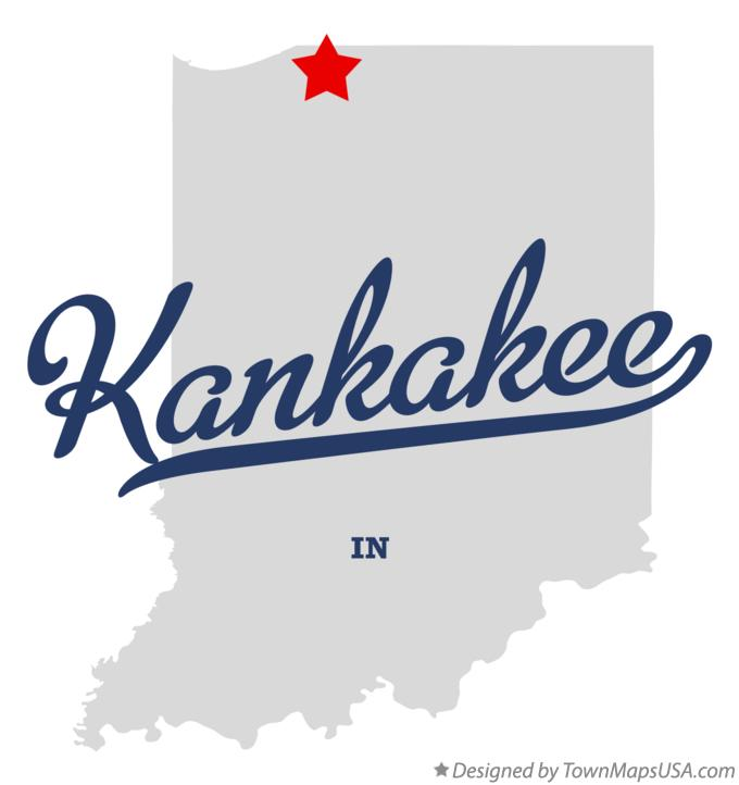 Map of Kankakee Indiana IN