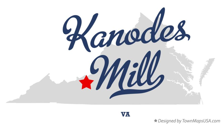 Map of Kanodes Mill Virginia VA