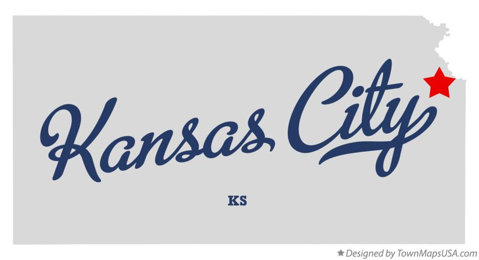 Map of Kansas City, KS, Kansas