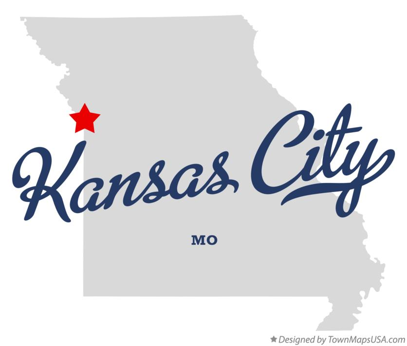 Map Of Kansas City MO Missouri - Kansas city map