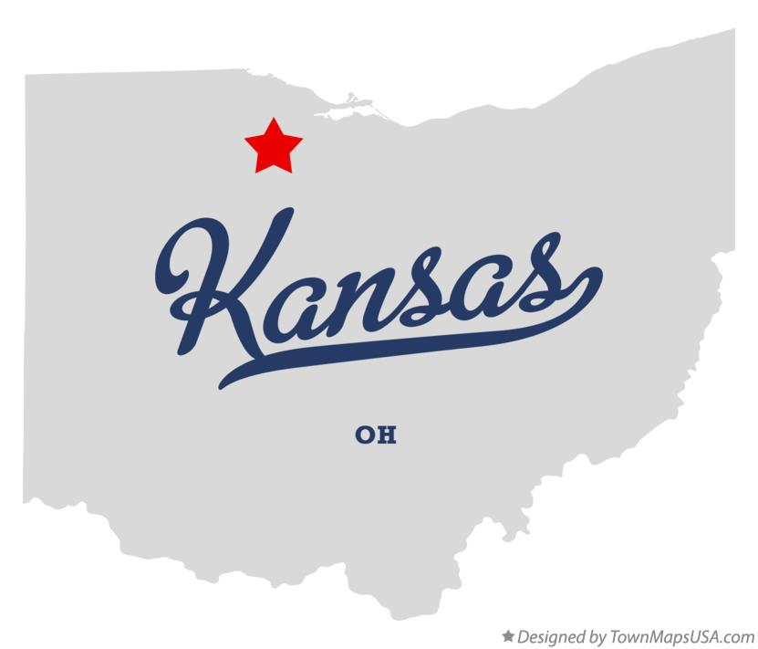 Map of Kansas Ohio OH