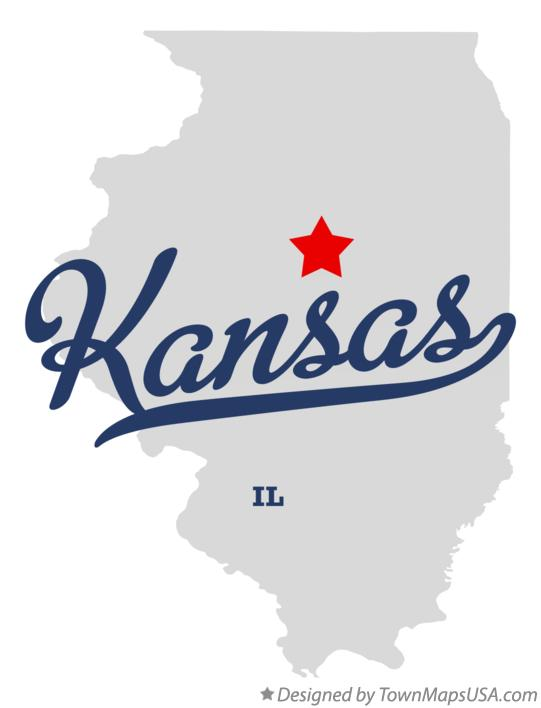 Map of Kansas Illinois IL