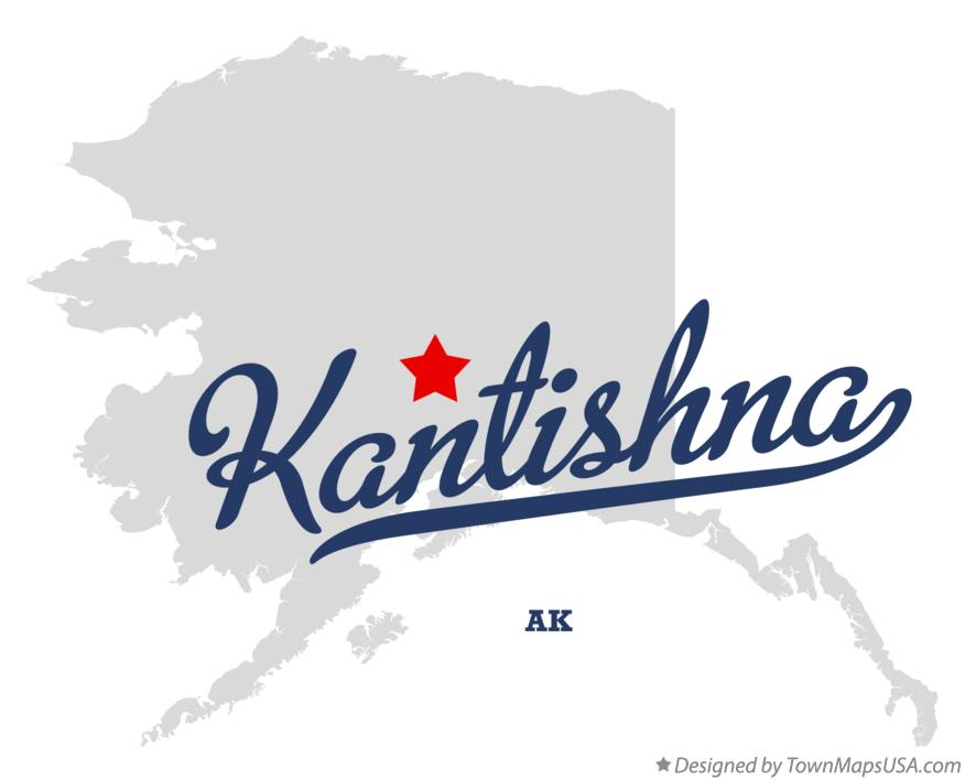 Map of Kantishna Alaska AK