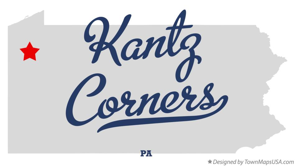 Map of Kantz Corners Pennsylvania PA