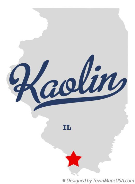 Map of Kaolin Illinois IL