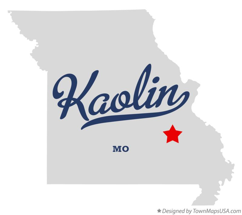 Map of Kaolin Missouri MO
