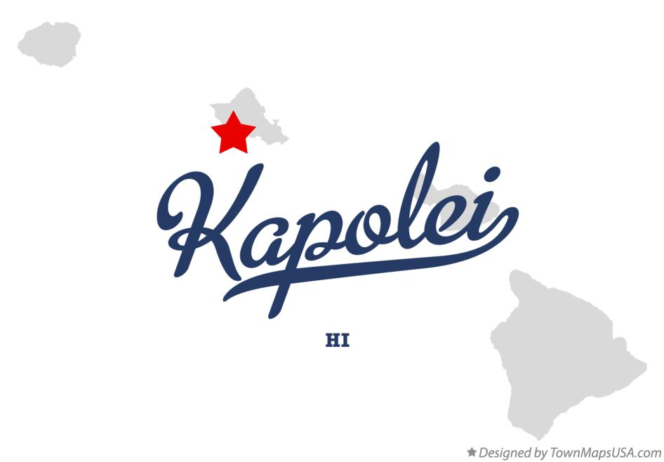 Map Of Kapolei Hi Hawaii