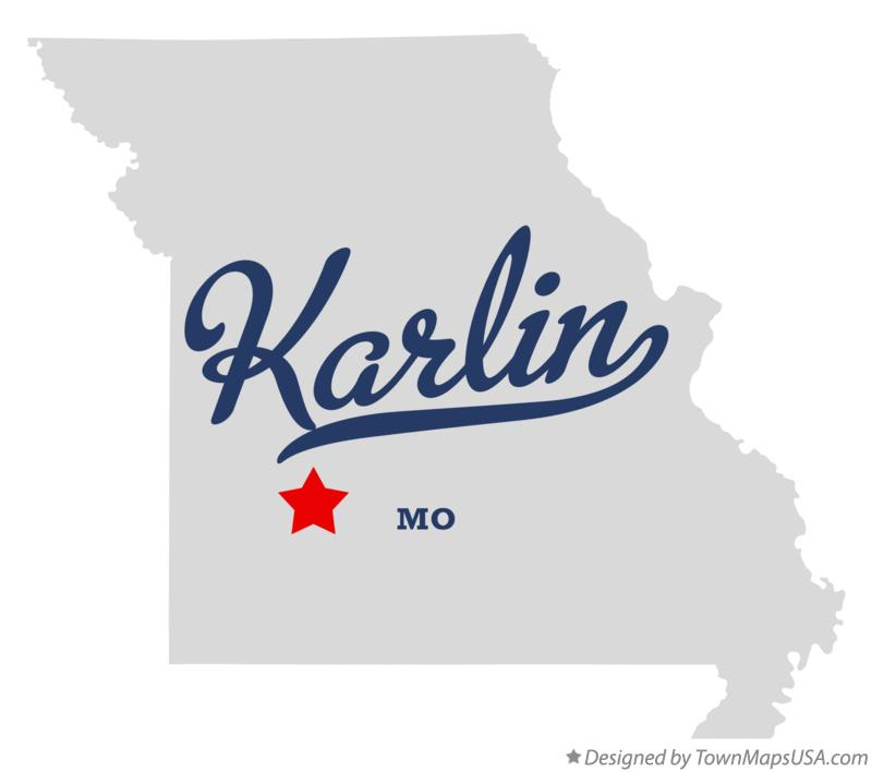 Map of Karlin Missouri MO