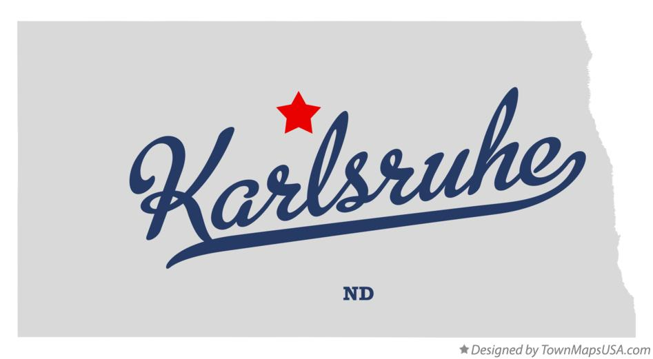 Map of Karlsruhe North Dakota ND