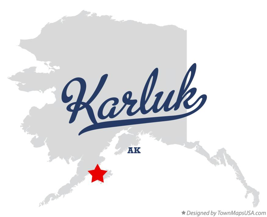 Map of Karluk Alaska AK
