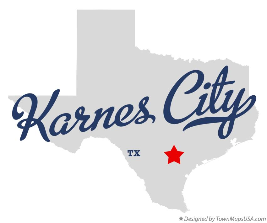 Map of Karnes City Texas TX