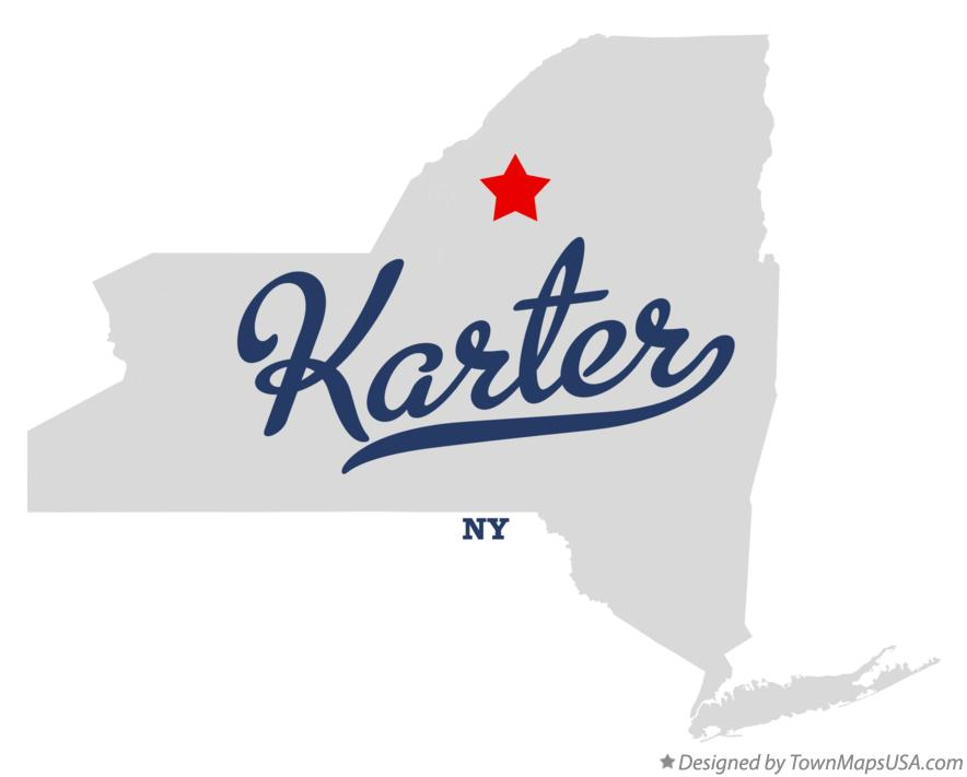 Map of Karter New York NY