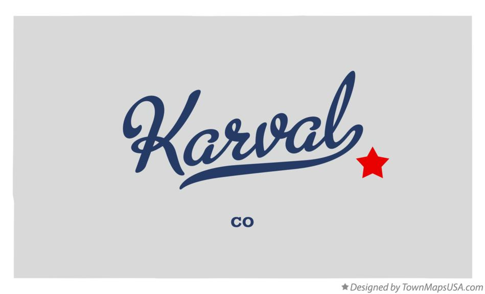 Map of Karval Colorado CO