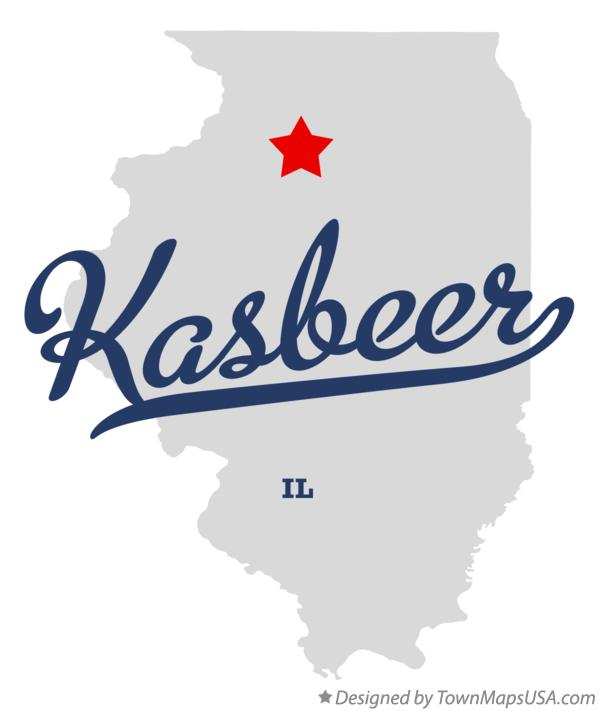 Map of Kasbeer Illinois IL