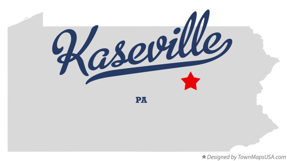 Map of Kaseville Pennsylvania PA