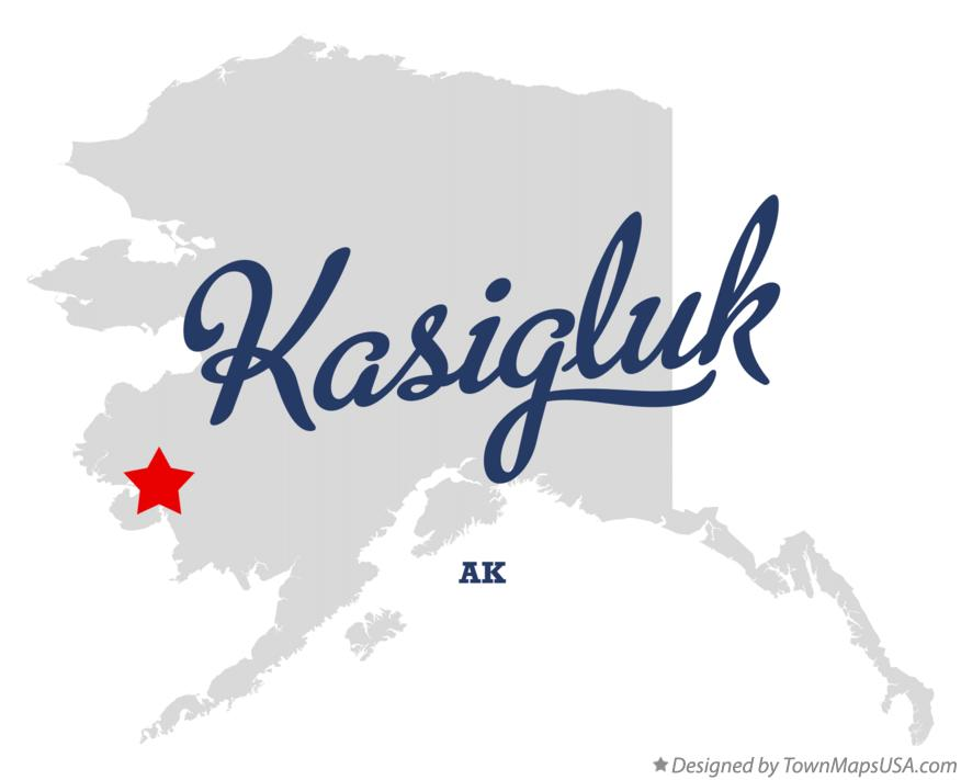 Map of Kasigluk Alaska AK