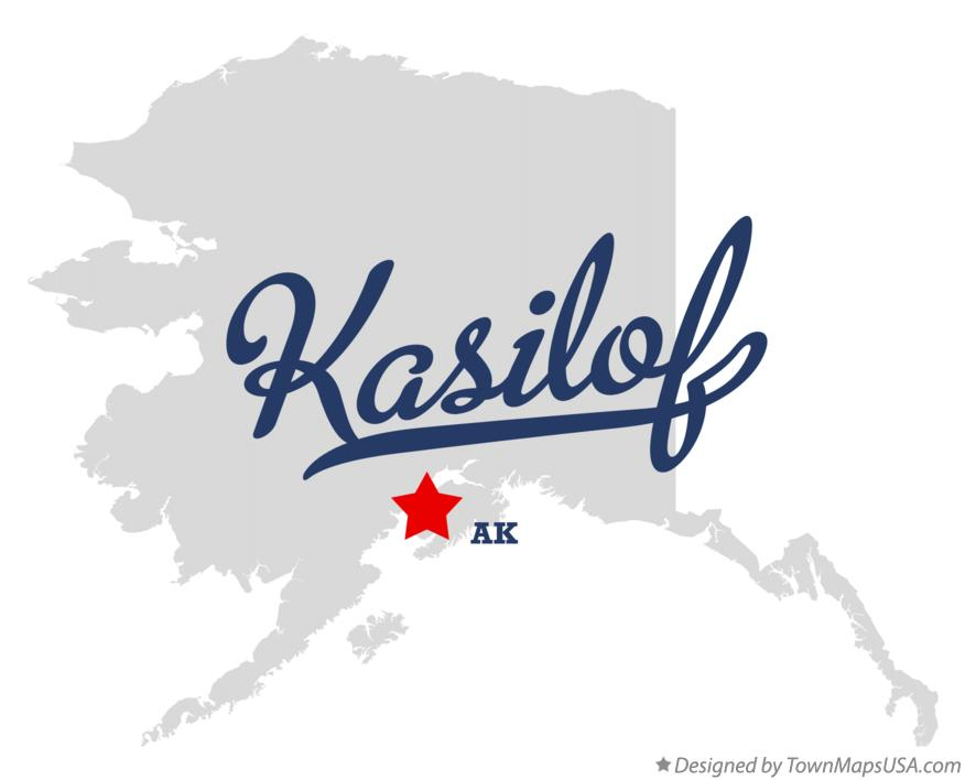 Map of Kasilof Alaska AK