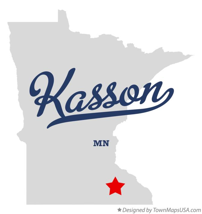 Map of Kasson Minnesota MN