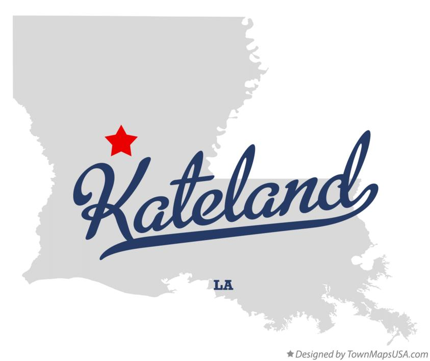 Map of Kateland Louisiana LA