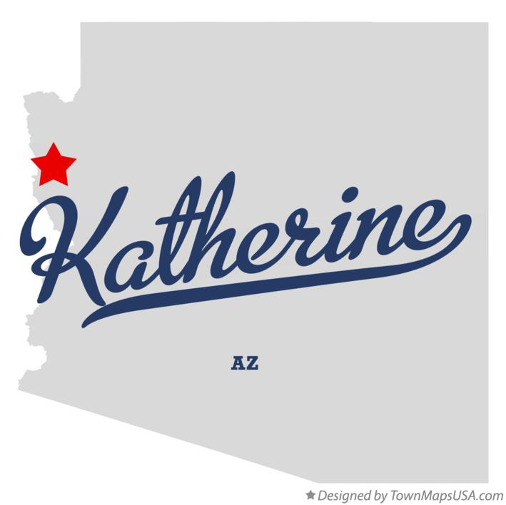 Map of Katherine Arizona AZ