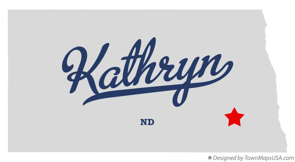 Map of Kathryn North Dakota ND