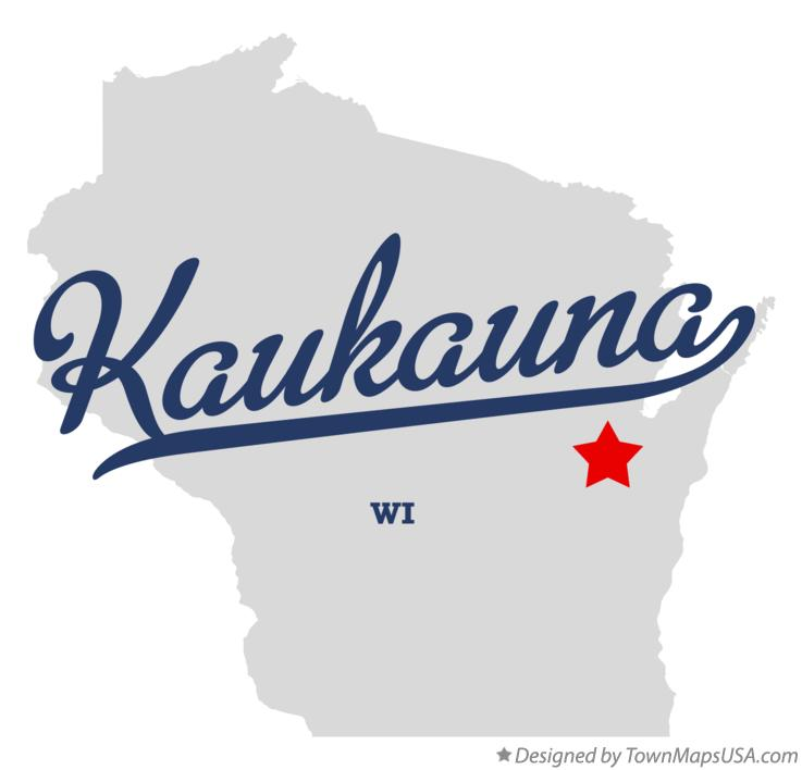 Map of Kaukauna Wisconsin WI