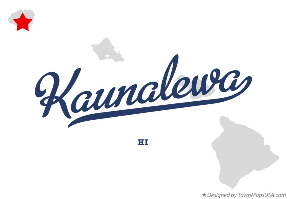 Map of Kaunalewa Hawaii HI