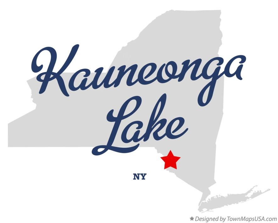 Map of Kauneonga Lake New York NY