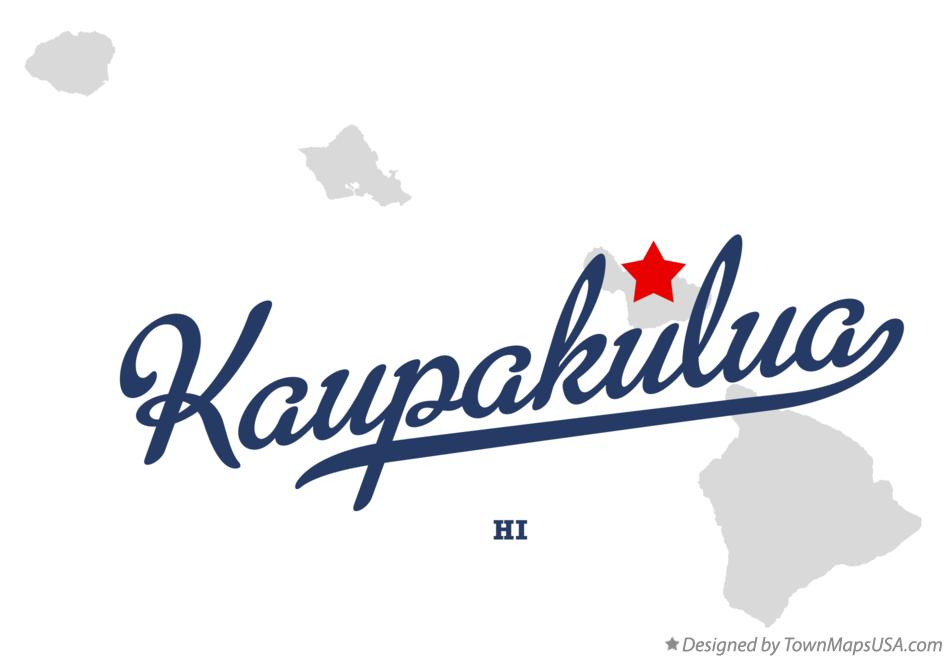 Map of Kaupakulua Hawaii HI