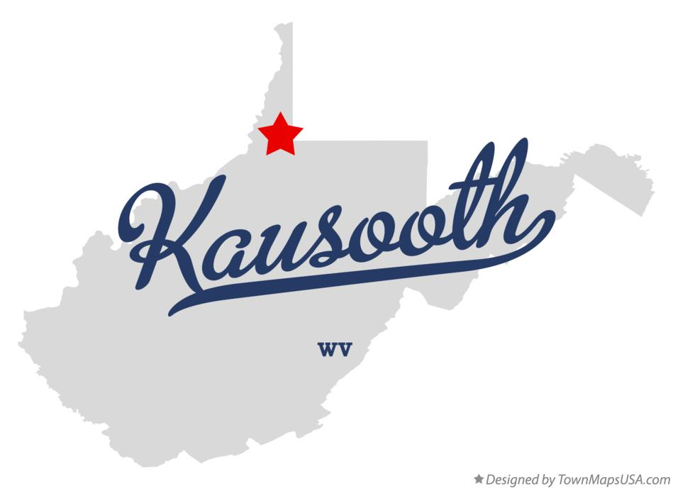Map of Kausooth West Virginia WV
