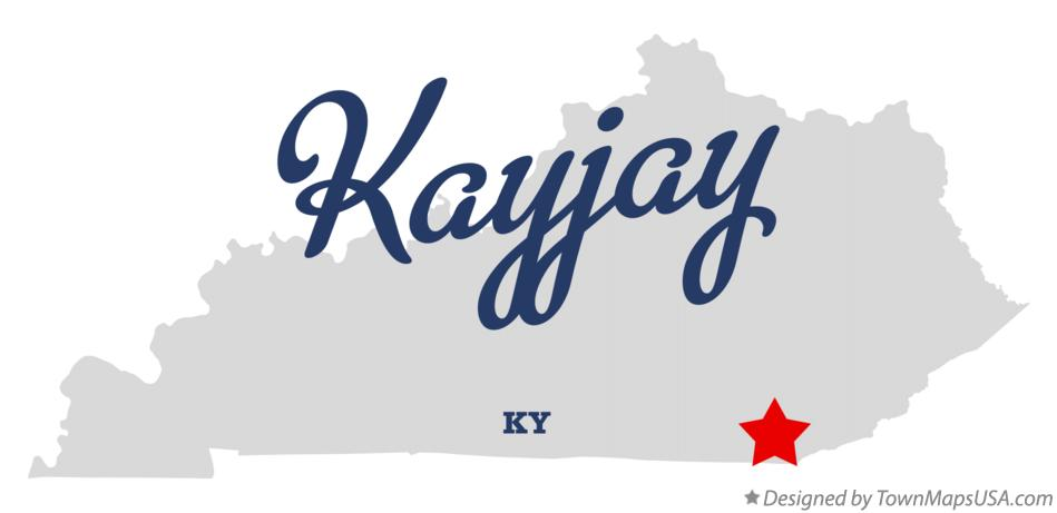 Map of Kayjay Kentucky KY