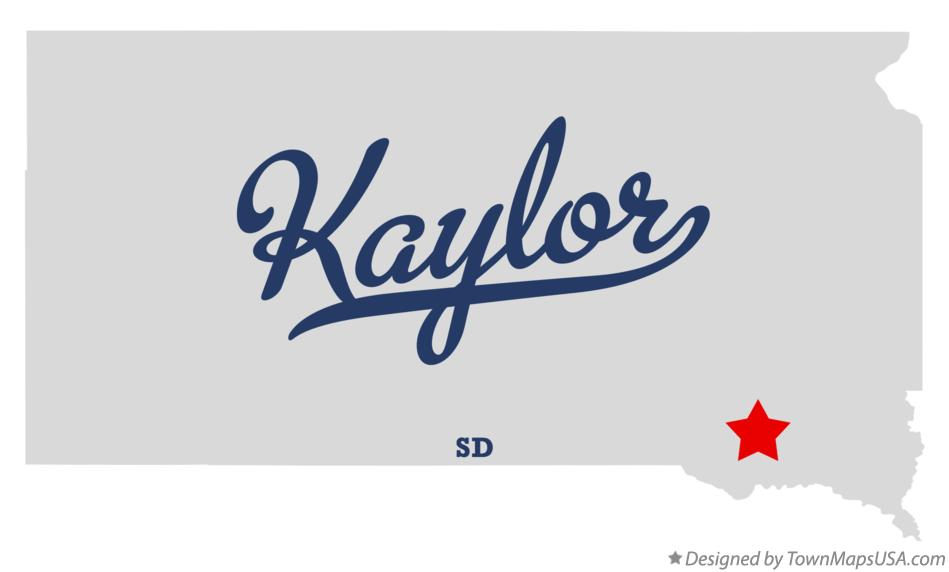 Map of Kaylor South Dakota SD